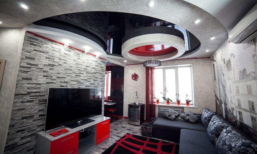 квартира студия натяжные потолки лаковые - копия