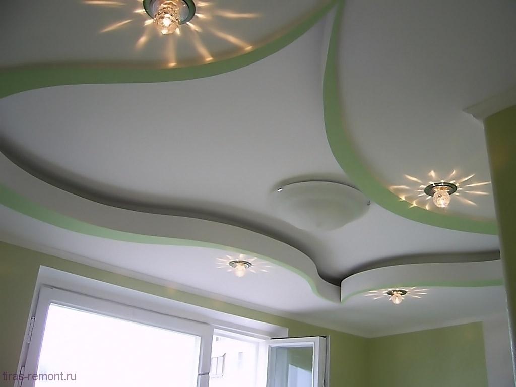 гипсокартоновый-потолок17