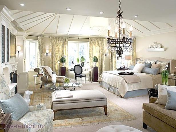 Дизайн большой спальни фото